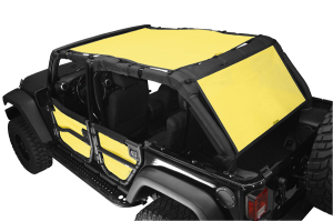 Dirty Dog 4x4 Sun Screen 1 Piece Front and Back Yellow (Part Number: )