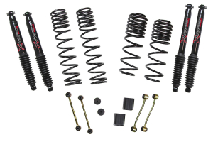 Skyjacker Suspension 2in - 2.5in Dual Rate-Long Travel Lift Kit System with Black MAX Shocks - JL RUBICON