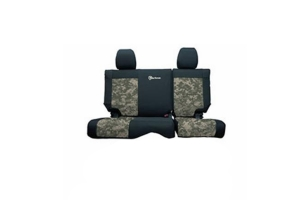 Bartact Tactical Series Rear Seat Covers - Black/Camo, No Armrest - JT