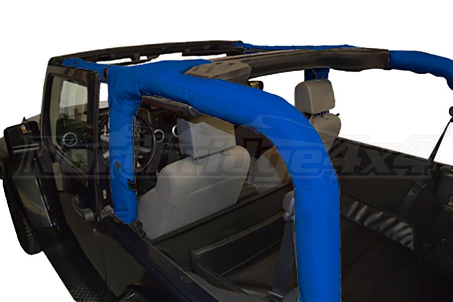 Dirty Dog 4x4 Roll Bar Covers Blue - JK 2dr