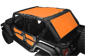 Dirty Dog 4x4 Sun Screen 1 Piece Front and Back Orange (Part Number: )