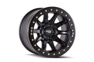 Dirty Life DT-2 Series Beadlock Wheel, Matte Black 17X9 5x5 - JT/JL/JK