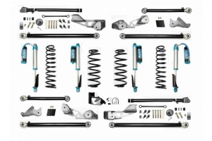 EVO Manufacturing 4.5in High Clearance Long Arm Lift Kit w/ Comp Adjuster Shocks - JL 4Dr