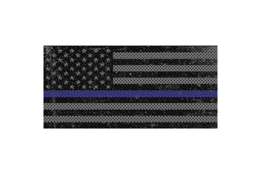 Under The Sun Inserts Distressed Thin Blue Line Grill Insert (Part Number:INSRT-DTRTBL-JK)