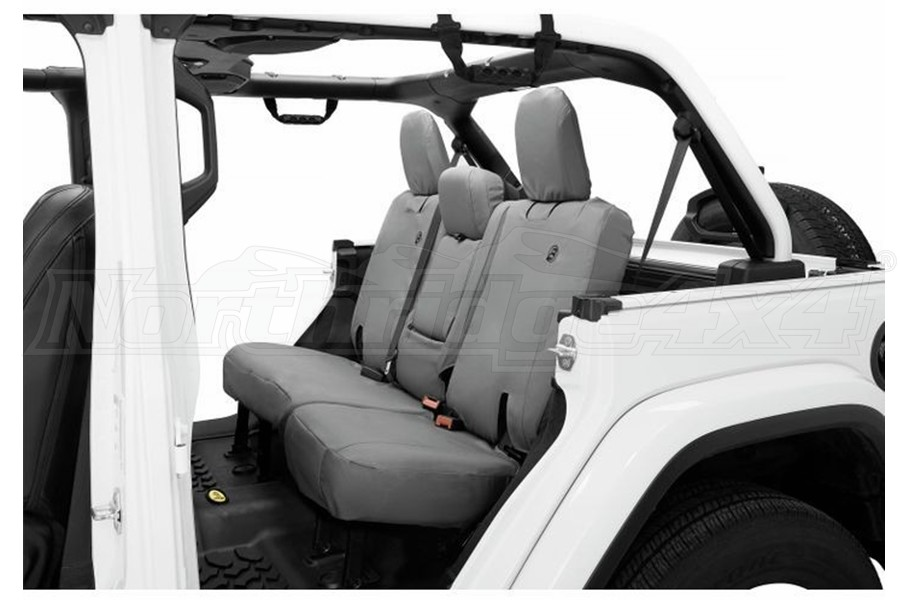 Bestop Rear Seat Covers w/o Armrest -Charcoal - JL 4dr