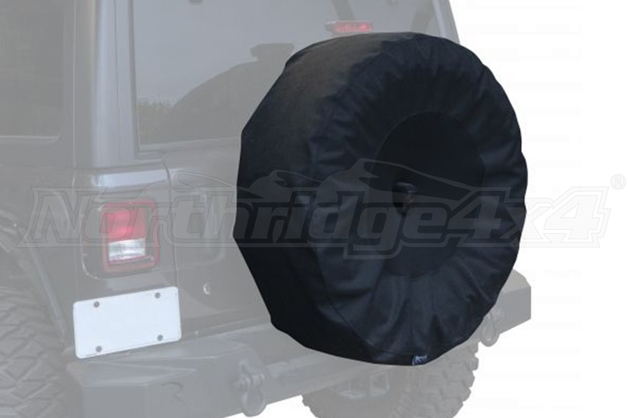 Rampage 33in-35in Spare Tire Cover with Camera Slot, Black  - JL