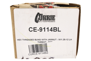 Currie Enterprises Threaded Bung w/ Jam Nut LHT