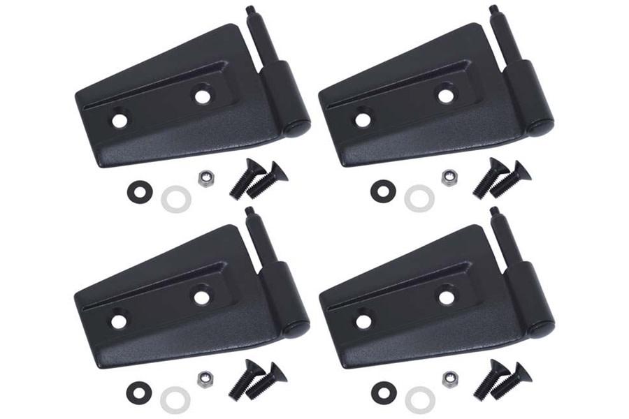 Kentrol 4-Pieces Door Hinge Set - Textured Black  - JK 2Dr