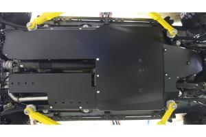 Rock Hard 4x4 Complete Bellypan Skid Plate System w/Dual Crossmembers- Aluminum  - JL 4dr 2.0L