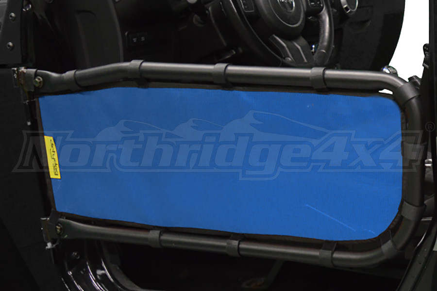 Dirty Dog 4x4 Olympic Front Tube Door Screen, Blue - JK 2DR