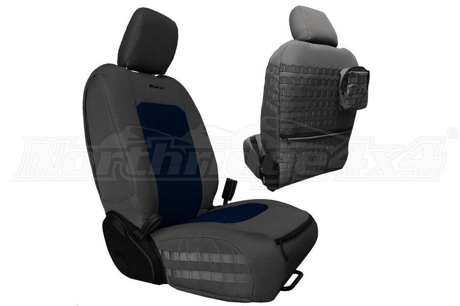 Bartact Tactical Front Seat Covers Graphite/Navy Blue (Part Number:JLTC2018FPGT)