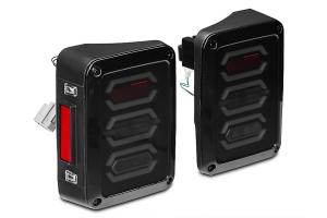 DV8 Offroad Octagon LED Tail Light - Pair - JK