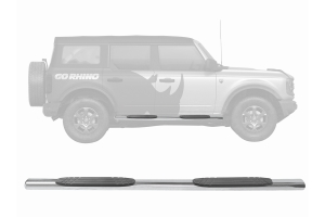 Go Rhino 4in 1000 Series Side Step Kit - Polished - Ford Bronco 4Dr