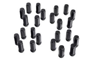Rugged Ridge M14-1.5 Wheel Lug Nut Set, 24pcs - Black  - JT/JL