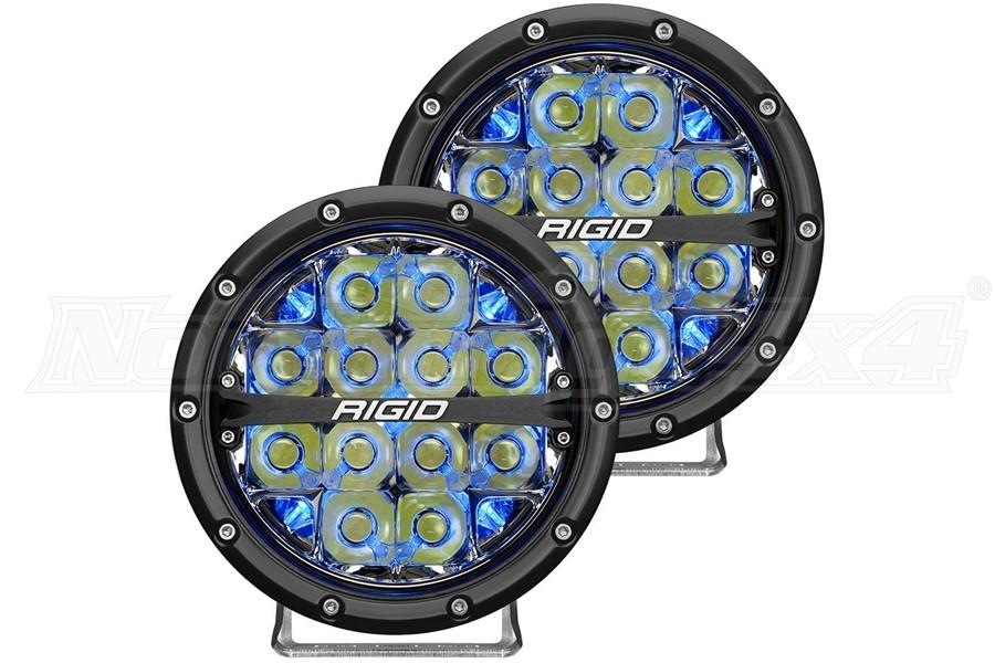 Rigid Industries 360-Series 6in LED Off-Road Drive Fog Lights, Blue - Pair