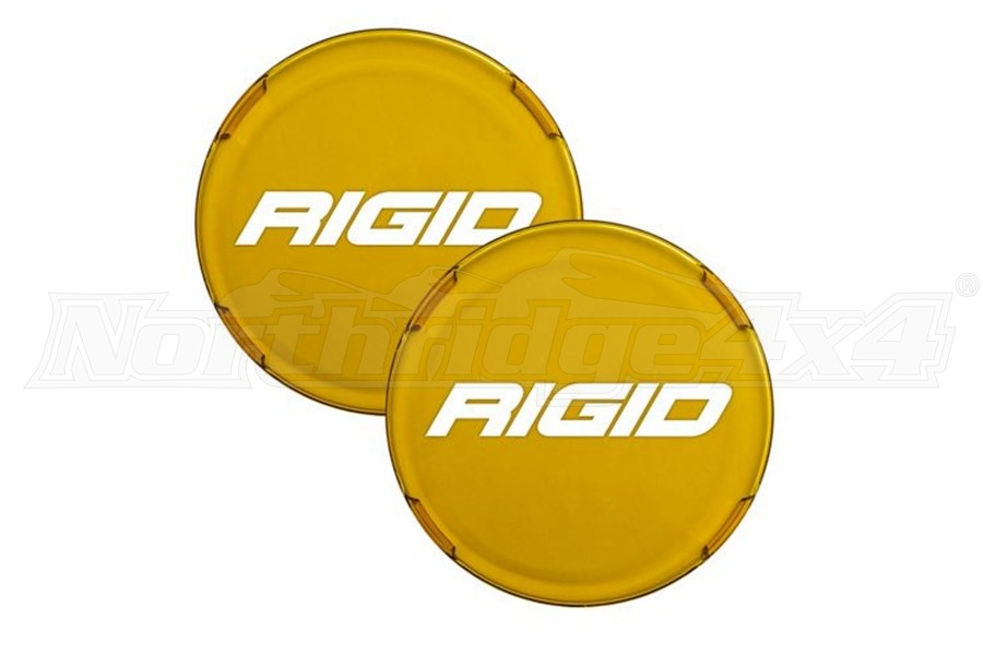 Rigid Industries 360 Series 6in LED Light Cover Amber - Pair