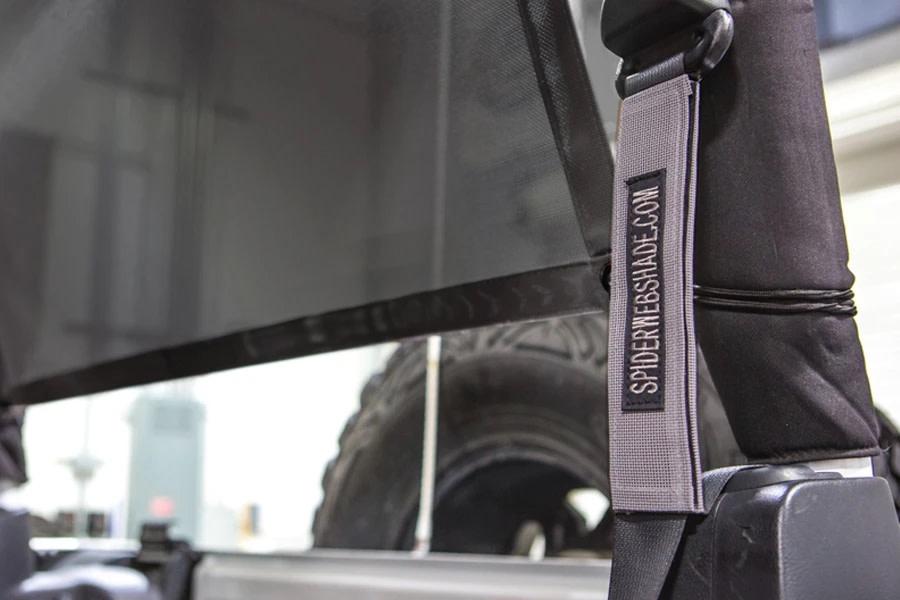 SpiderWebShade Seatbelt Silencers - Grey - JK 2Dr