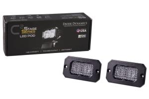 Diode Dynamics SS2 Sport Flush Mount LED Pods - White/Blue Flood