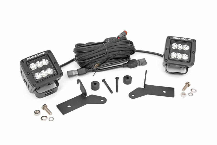 Rough Country 2in LED Lower Windshield Kit  (Part Number:70052)