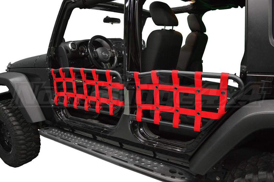 Dirty Dog 4X4 Olympic Front & Rear Tube Door Netting, Red (Part Number:J4TN07OYRD)