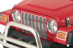 Smittybilt Billet Grille Overlay W/Chrome Insert Trim (Part Number: )