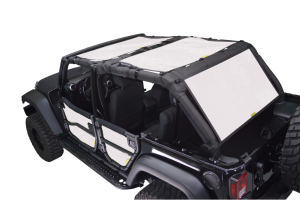 Dirty Dog 4x4 Sun Screen Front and Back Seats Sand - JK 4dr