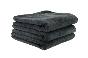 Chemical Guys Workhorse Professional Grade Microfiber Towel Black - 3 Pack