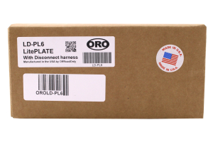 Off Road Only Light Plate w/ Harness (Part Number: )