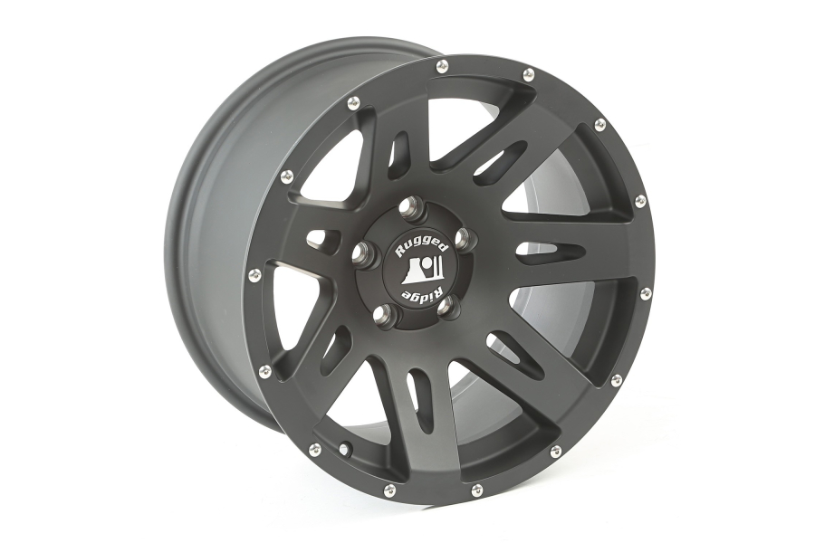 Rugged Ridge XHD Wheel, Black Satin, 17x9 5x5 (Part Number:15311.01)