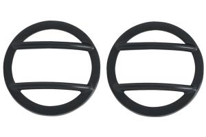 Kentrol 6-Pieces Headlight and Marker Cover Set - Powdercoat Black  - JK