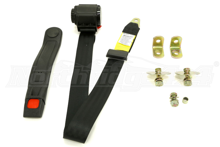 Rugged Ridge Universal 3-Point Seat Belt (Part Number:13202.01)
