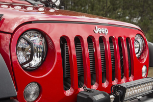 Rugged Ridge Elite Headlight Euro Guards, Black - JK