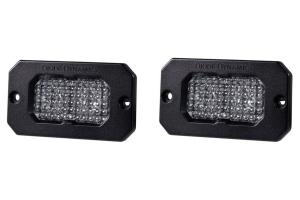 Diode Dynamics SS2 Sport Flush Mount LED Pods - White/Amber Flood