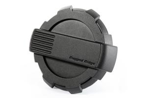 Rugged Ridge Elite Fuel Door, Non-Lock, Black - JK
