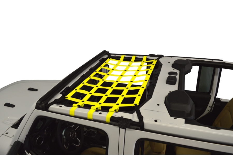 Dirty Dog 4x4 Front Seat Netting, Yellow - JL 4Dr