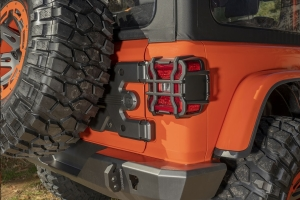 Rugged Ridge Elite Tail Light Guard Kit, Textured Black  - JL
