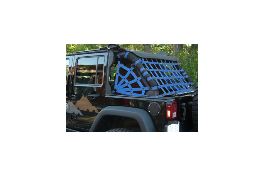Dirty Dog 4x4 Spider Netting Rear Blue - JK 4dr
