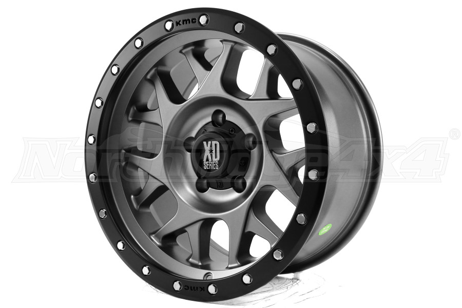 XD Series Wheels XD127 Matte Gray w/ Black Ring 17x9 5x5 (Part Number:XD12779050412N)
