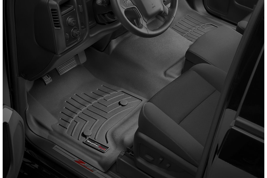 WeatherTech Front Floor Liners - Black  - Ford Bronco Sport w/ Rubberized Floor