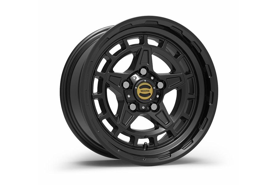 Warn Diamond Cutter Wheel, 17x8.5, 5x5 - Black - JT/JL/JK