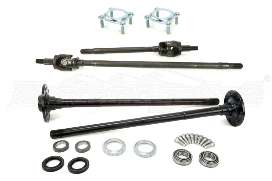 TEN FACTORY Non RUBICON DANA 30/44 FRONT AND REAR CHROMOLY AXLE KIT W/PRESSED BEARINGS - JK (Part Number:MG22156-22152)