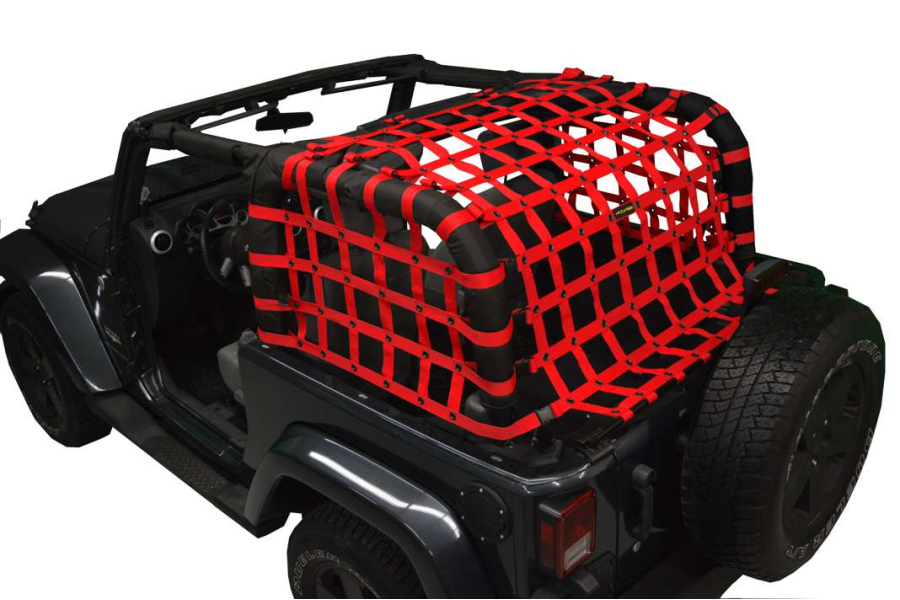 Dirty Dog 4x4 Rear Netting Red (Part Number:J2NN07RCRD)