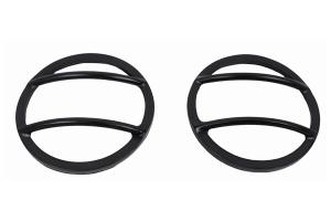 Kentrol Fog Light Cover Set - Powdercoat Black  - JK