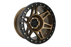 Method Racing Wheel MR106 Beadlock Bronze 17X9 5X5 - JT/JL/JK