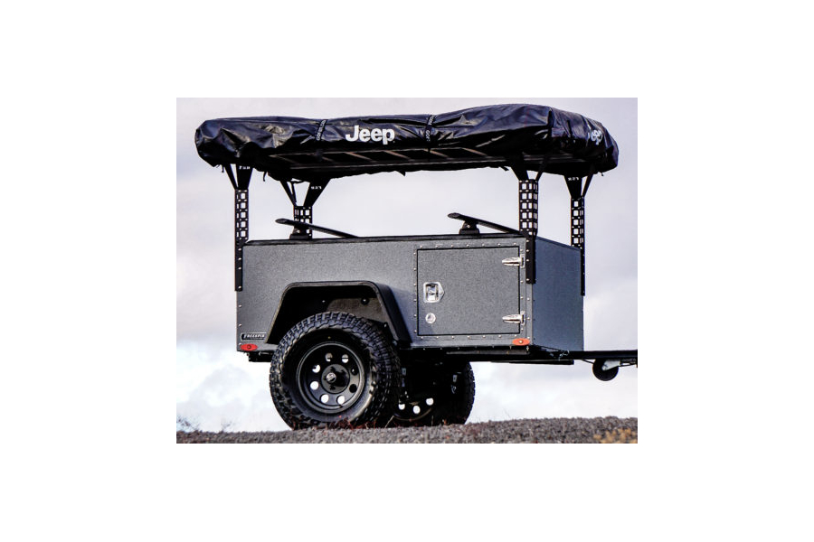 Freespirit Recreation Adventure Series 49in Roof Top Tent Trailer Towers, Black  (Part Number:RKTWAS491)