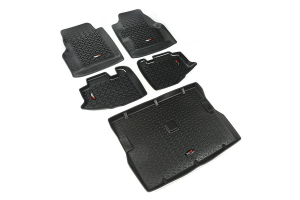 Rugged Ridge Floor Liner Kit, Black ( Part Number: 12988.10)