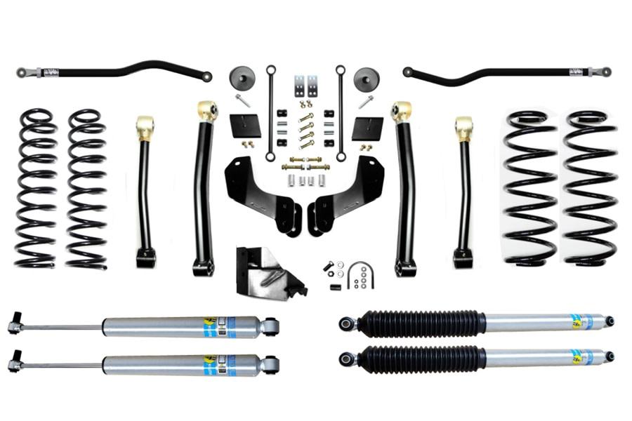 Evo Manufacturing 4.5in Enforcer Overland PLUS Stage 3 Lift Kit w/ Bilstein Shocks - JL 4Dr Diesel