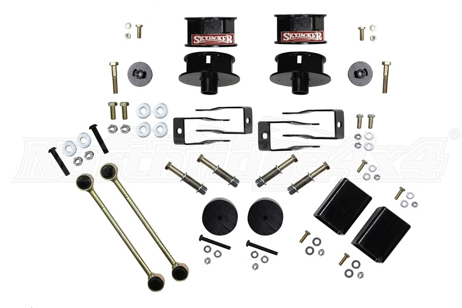 Skyjacker Metal Spacer Kit with Shock Extension Brackets 2.5 In Lift - JL