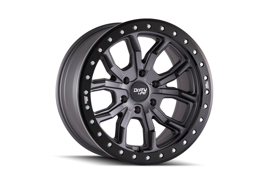 Wheel 1 Dirty Life DT-1 9303 Series Wheel, Matte Gunmetal 17x9 5x5 (Part Number:9303-7973MGT12)