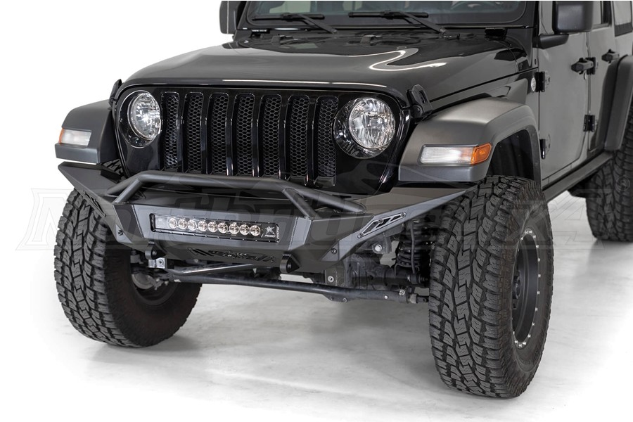 Addictive Desert Designs Stealth Fighter Full Length Front Bumper w/ Top Hoop - JT/JL Non-Rubicon